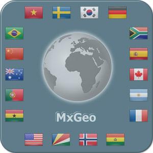 World atlas & map MxGeo Pro 3.0 دانلود برنامه اطلس جهان برای اندروید