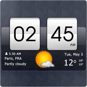 Sense Flip Clock and Weather Pro v2.21.09 دانلود برنامه وضعیت جوی برای اندروید